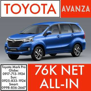 Brand New 2018 Toyota Avanza!!! ALL-IN LOWEST DP SALE!!! NO Hidden Charges Guaranteed!!! ALL-IN Cash Out Wigo Vios Altis Hilux Innova Avanza Camry Hiace Fortuner