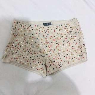 Top shop sequined mini shorts