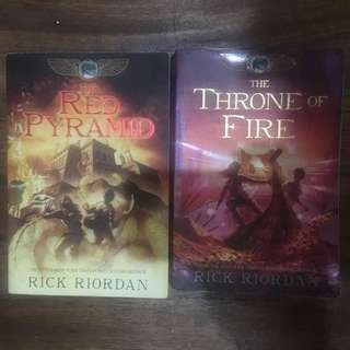 Kane Chronicles (The Red Pyramid and The Throne of Fire)