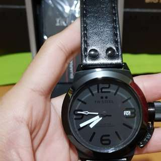 Tw Steel CEO Canteen 45mm Leather Strap Mens Watch