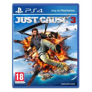 (Brand New Sealed) PS4 Game Just Cause 3