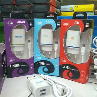 Charger Brand 2.A / 2 port Usb