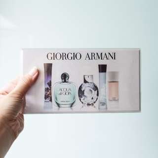 BNIP Giorgio Armani Mini 5 PC Variety Set Perfume for Women