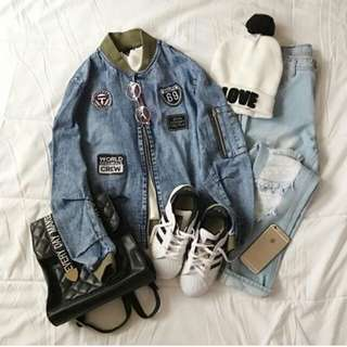 Bomber jeans patch