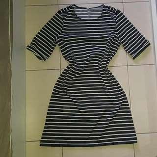 Stripe Shift Dress A-line Dress #MidNovember50