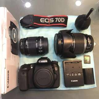 [ SOLD ] Canon EOS 70D + 18-200mm IS + 18-55mm IS II in excellent condition! Cheap!!