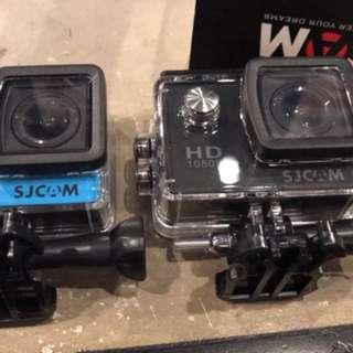 Sjcam4000 2台 一藍一黑