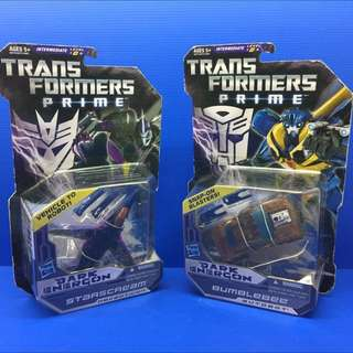 Transformers Prime Dark Energon Bumblebee & Starscream MOSC. What you see is what You Get.