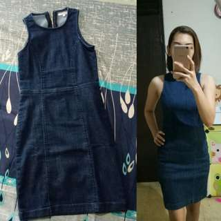 Preloved Colorbox denim Bodycon