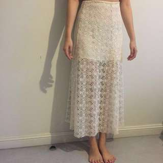 PRICE DROP from $20 NEW Zara Crochet Maxi Skirt