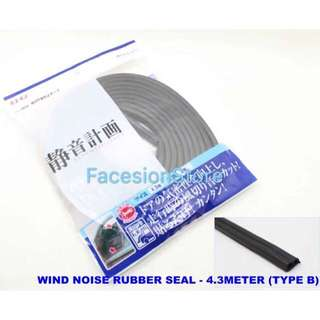 Wind Noise Seal Rubber 4.3m