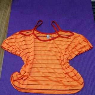 Cover up blouse orange