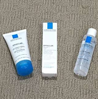La Roche Posay effaclar travel size products