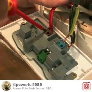 Power point installation