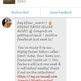 4TH TIME HIGHLY RATED SELLER!