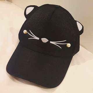 Black Kawaii Cat Cap