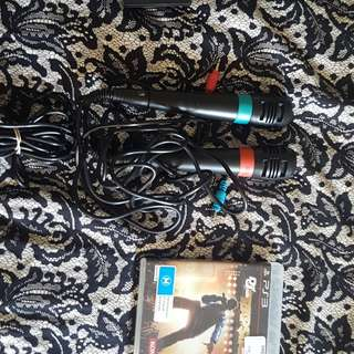 Singstar mics and ps3 game