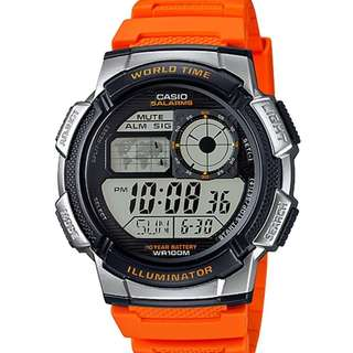Casio Watch * AE1000W-4BV Smart Power MultiMission Orange Silicone