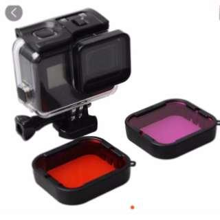【現貨】濾鏡 GoPro hero5 hero6 與原廠尺寸一樣 不用擔心裝不上+收納袋