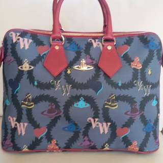 Vivienne Westwood Made in Italy Multi-colour Red Trim Handbag Satchel Bag