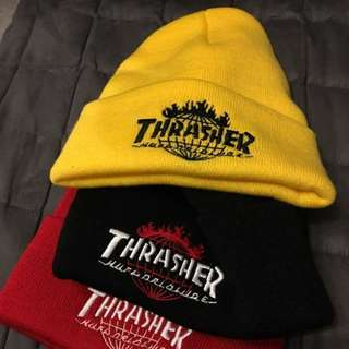 Thrasher X HUF 聯名款毛帽