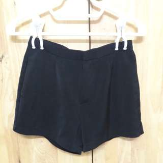 Black High Waisted Short Pants