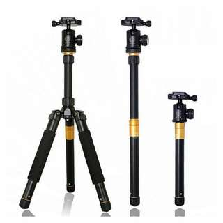 Beike Q999s Camera Tripod + Monopod + Ball Head (Q999 Invisible Twisted Lock for DSLR and Mirrorless Camera)