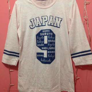 Kaos Cantik Japan 9 Peach T Zone T Shirt