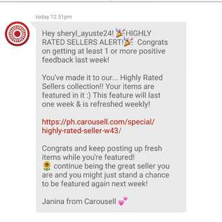 Highly Rated Seller for the Fourth Time!  Thank you Carousell!