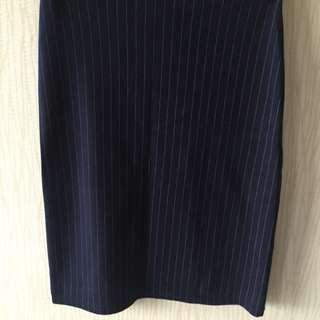 (全新) 細條紋窄裙