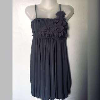Gray formal petal dress