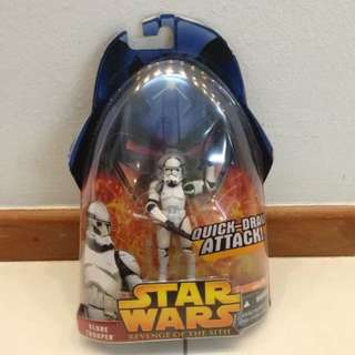 Star Wars Revenge of The Sith Clone Trooper ROTS MOSC. What you see is what you get.