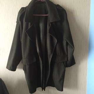 正韓 軍綠色外套
