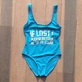 'If Lost Please Return Me To My Squad' One Piece Swim Suit