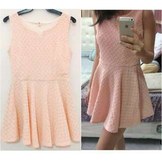 Peach Flare Dress