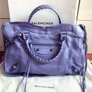Balenciaga city 紫色