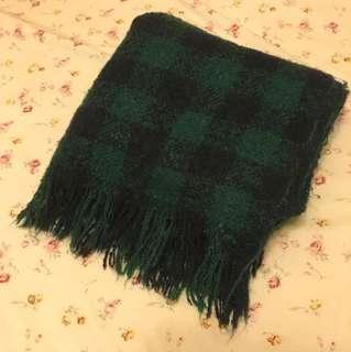 綠黑格紋圍巾
