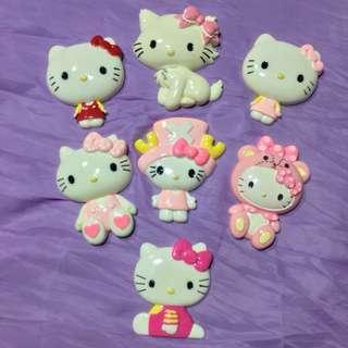 "Hello Kitty Resin / Hard Plastic 3"" Figurine / Decor Lot of 7"