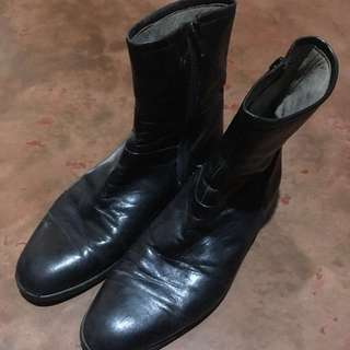 REPRICED! Black Leather Boots
