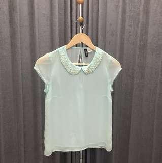 H&M mint top (size 32)