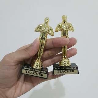 "Miniature Piala with Magnet - ""World's Greatest Teacher"""