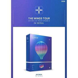 BTS 2017 THE WINGS TOUR in Seoul DVD (KPOP)