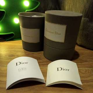 AUTHENTIC Dior rose candle