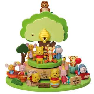 7-Eleven Winnie the Pooh Wood Figurine Collection