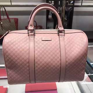 Authentic Gucci Boston Bag with Shoulder Strap