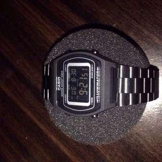 Matte Black Casio Watch