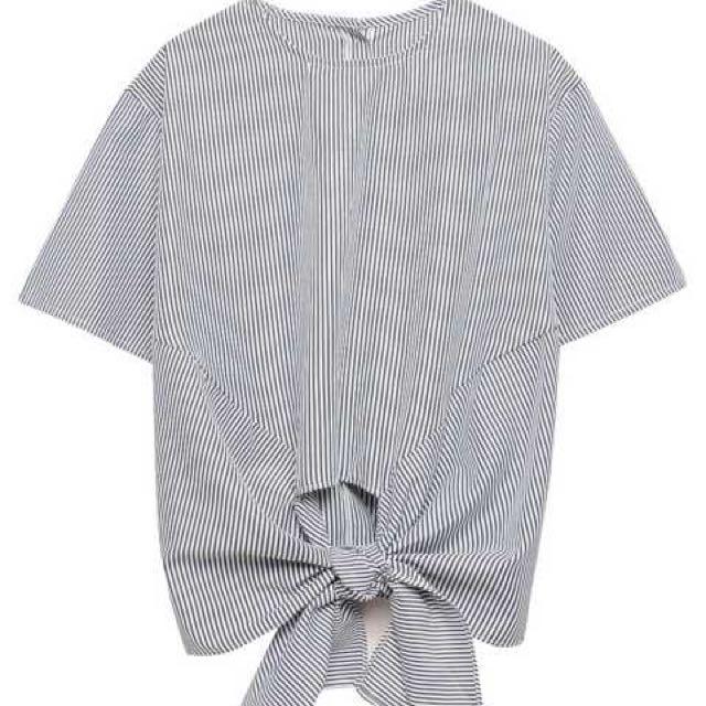 正反兩穿條紋造型上衣(條紋)