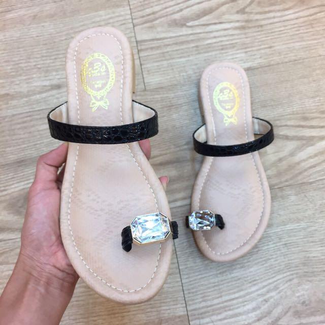 大寶石水鑽拖鞋
