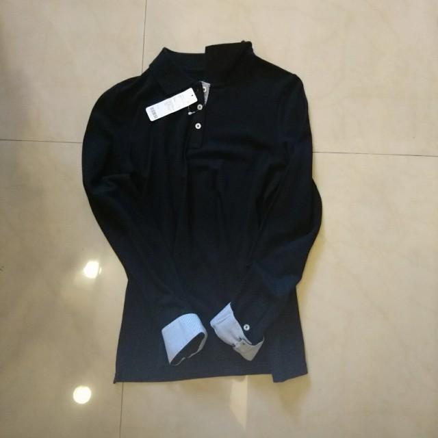 全新 Lativ黑色Polo衫