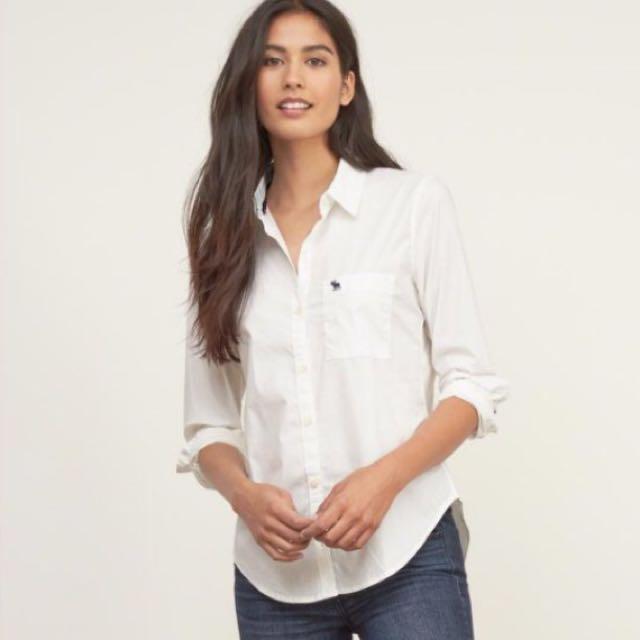 Abercrombie&Fitch AF Hollister 女生 白色襯衫 Gap Zara